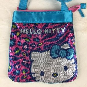 EUC Hello Kitty Sequin leopard Print crossbody bag